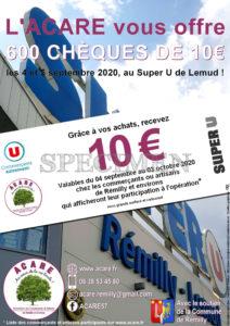 600 CHÈQUES DE 10 €