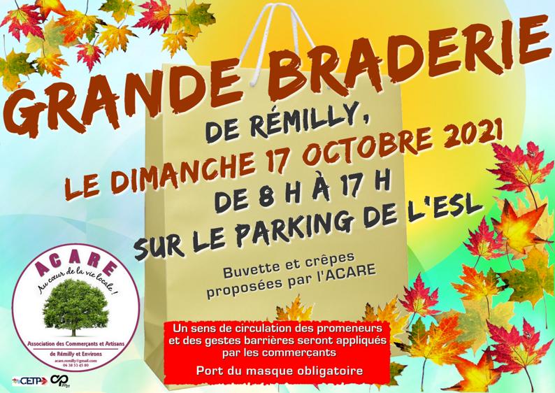 Grande braderie de Rémilly, le 17 octobre 2021